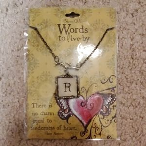 "Letter ""R"" necklace"